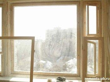 покраска окна с балконной дверью